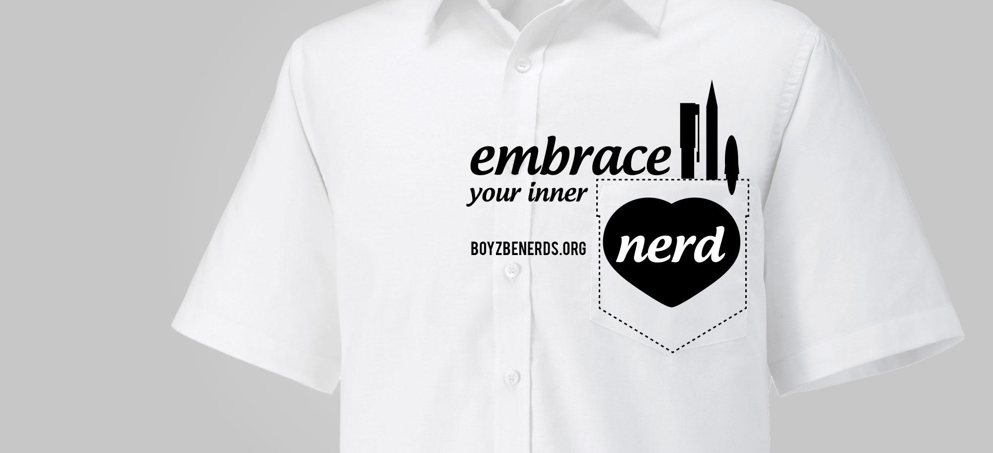 Embrance your inner nerd - shirt illustration